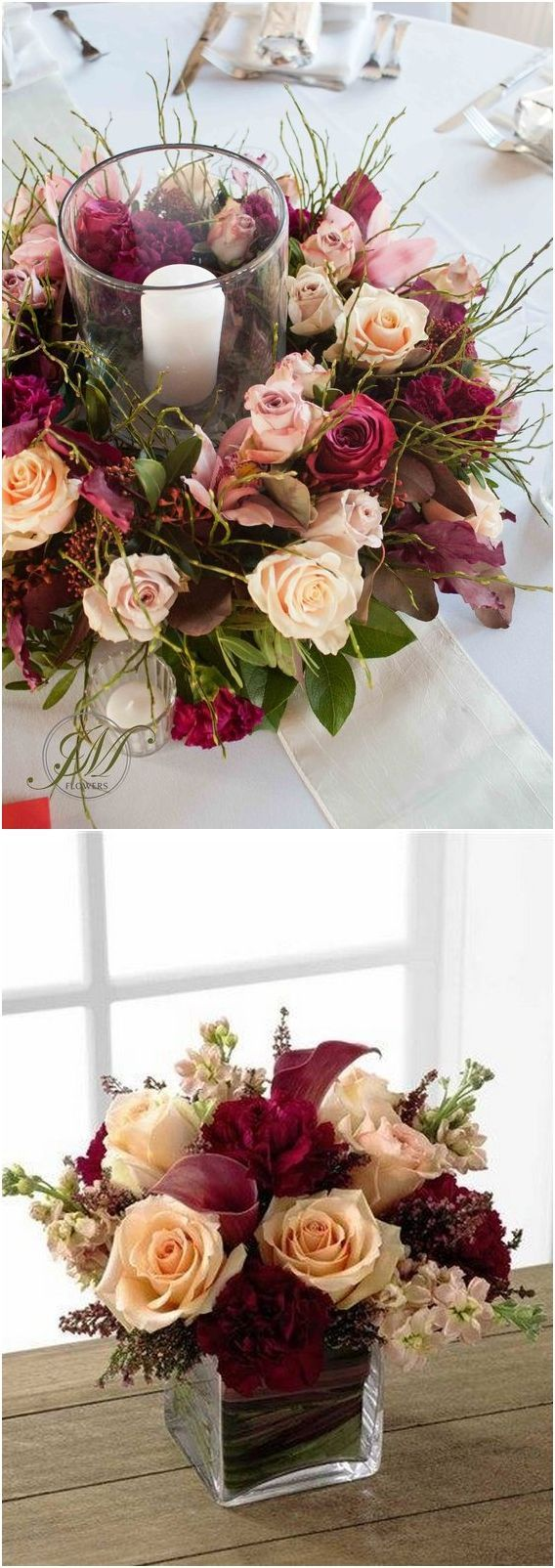 Pink and maroon wedding decor   Burgundy and Blush Fall Wedding Ideas  Baby shower ideas