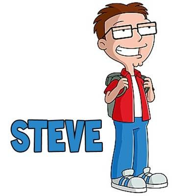 American Dad! Steve Smith, voiced by Scott Grimes. | Simpson | Gif ...