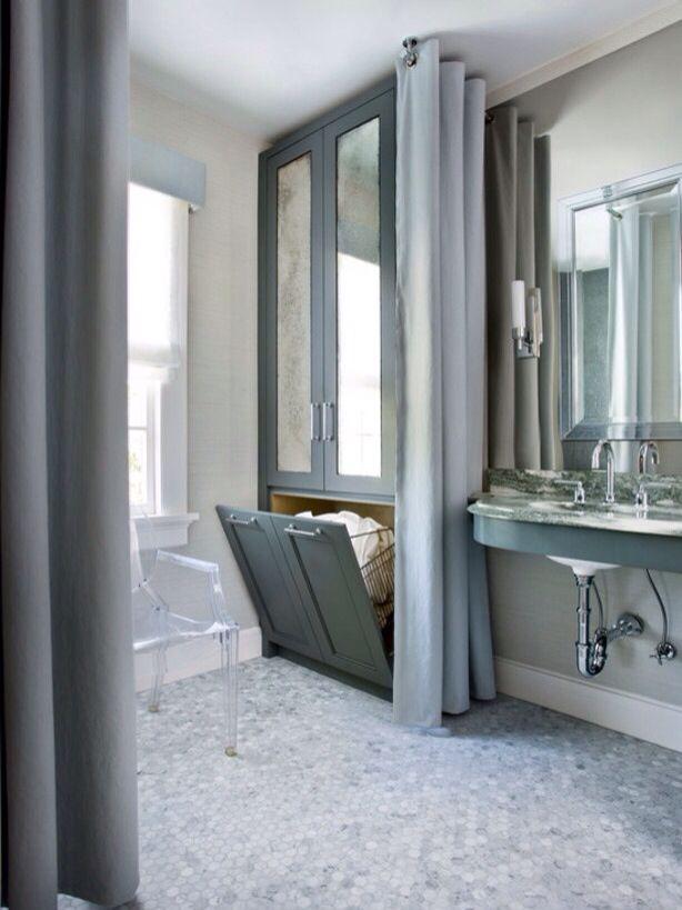 badkamermeubel met wasmand   inspiratie   pinterest   körbe, Hause ideen