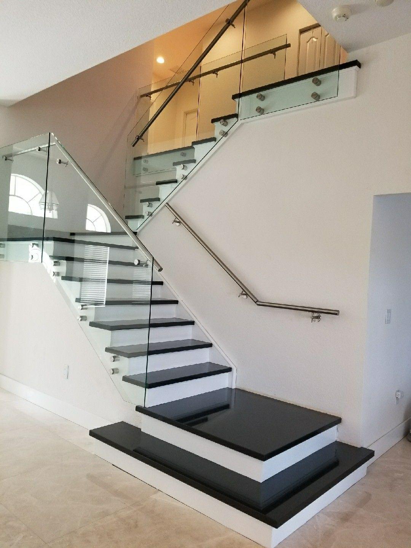 Stair in black absolute granite   Home stairs design ...