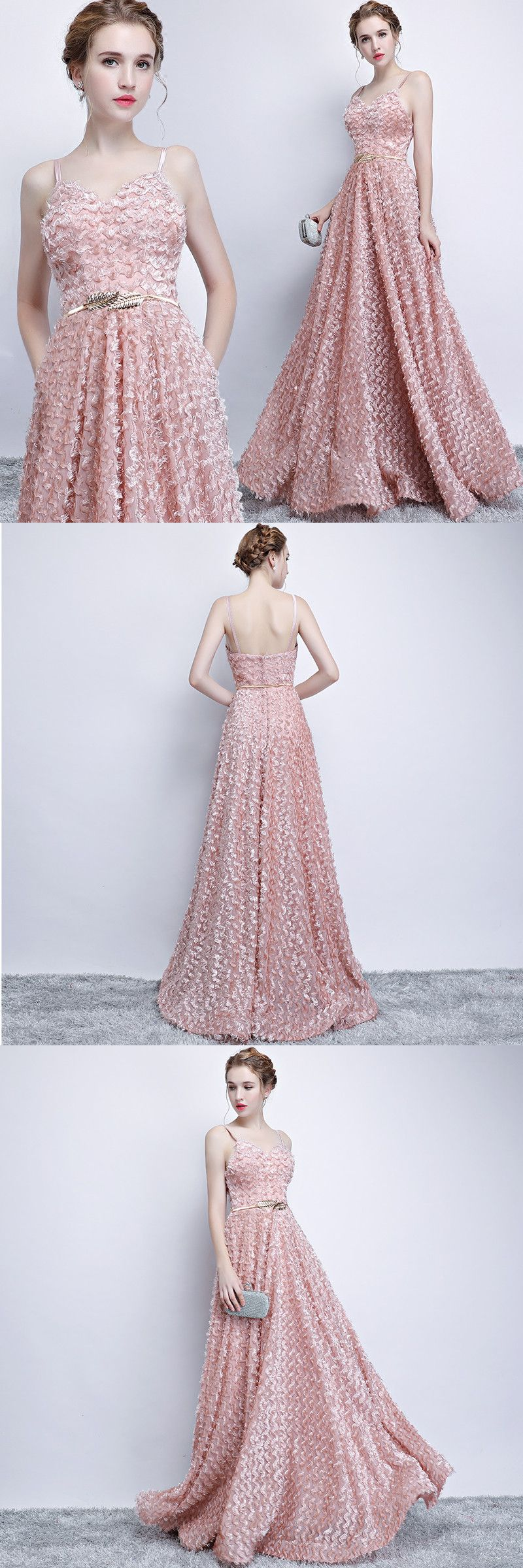 Chic a line prom dress modest unique long prom dress vb to