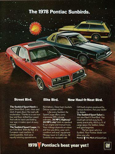 1978 Pontiac Sunbird Sport Pontiac Pontiac Sunbird Automobile Advertising