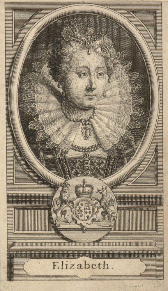 Elisabetta I, incisione, autore sconosciuto, XVII sec.