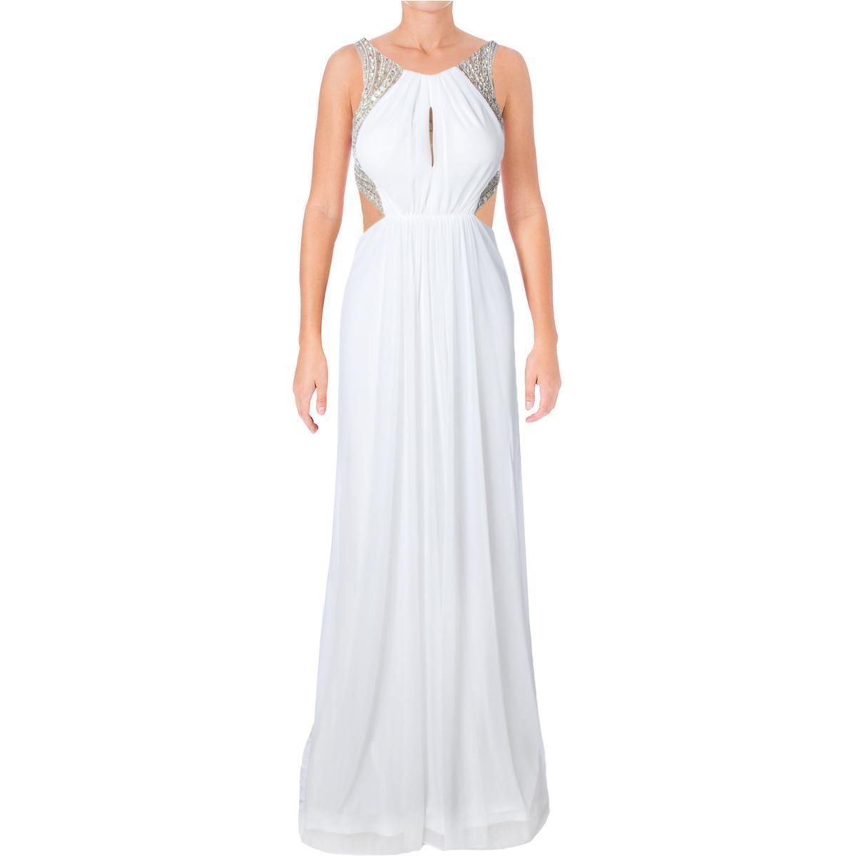 Awesome awesome terani couture white embellished illusion prom