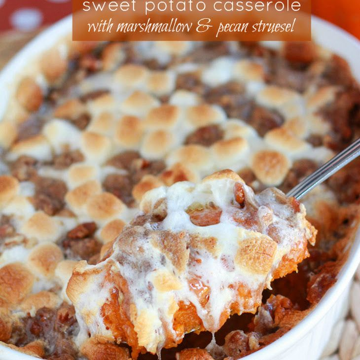 Sweet Potato Casserole with Marshmallow & Pecan St
