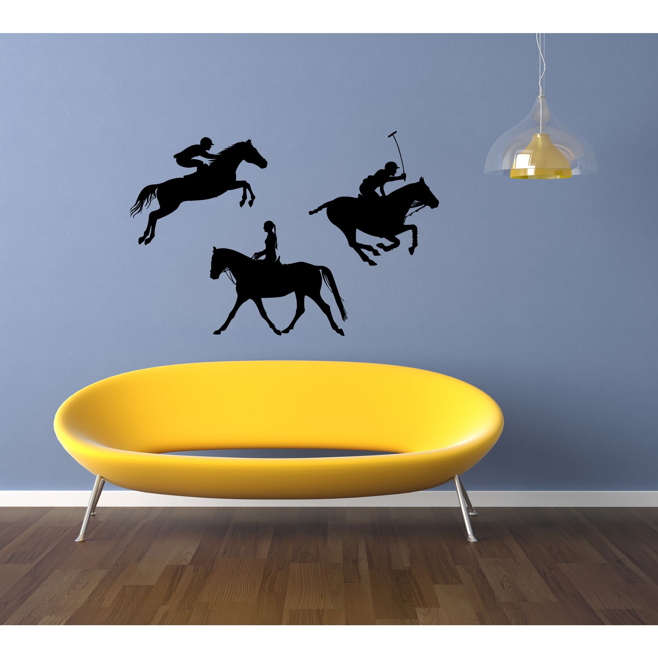 Graceful Polo Horse Sport People Wall Art Sticker Decal | Products ...