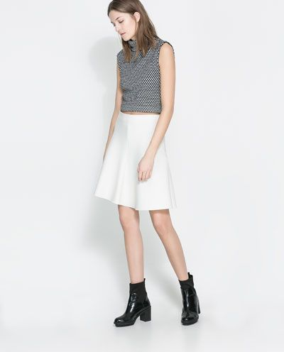 ZARA - NEW COLLECTION - MICROJACQUARD CROP TOP