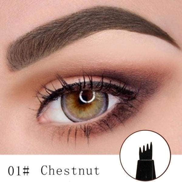 Waterproof Fork Tip Eyebrow Tattoo Pen Chestnut Buy 1