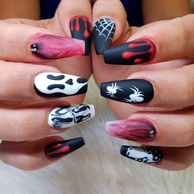 The Best Halloween Nail Designs In 2018 Stylish Belles Halloween Acrylic Nails Halloween Nail Designs Halloween Nail Art