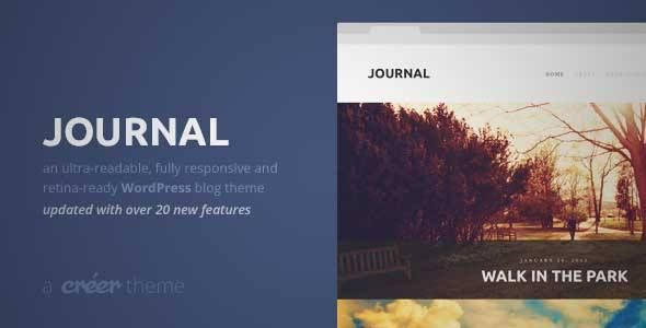 Download and review of Journal - Responsive Readable WordPress Blog ...