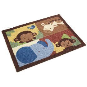 Jungle Theme Area Rug For Baby S Room