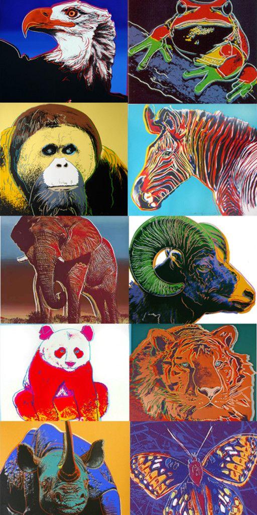 andy warhol s endangered species portfolio robin rile fine art
