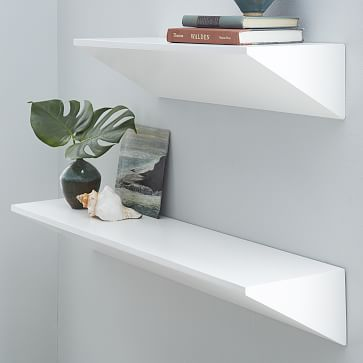 Floating Wedge Shelf White White Floating Shelves Floating