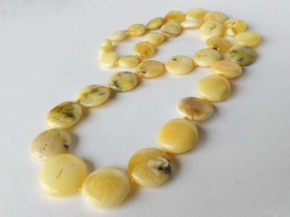 Raw white natural amber statement necklace five large amber stones necklace gift for her antique butterscotch amber resin women necklace