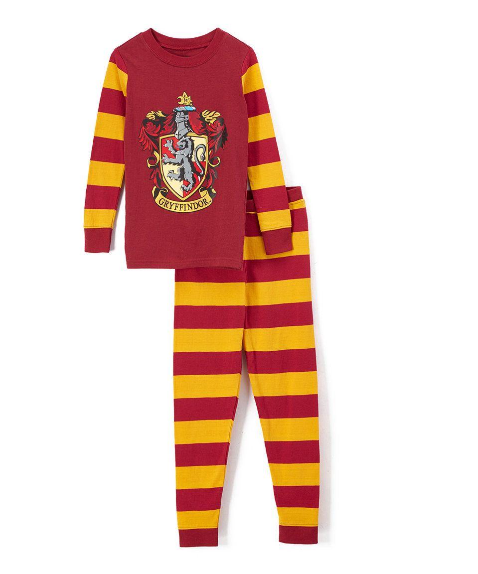 Intimo Harry Potter Big Boys/' Gryffindor Snug Fit L//S Pajama Set