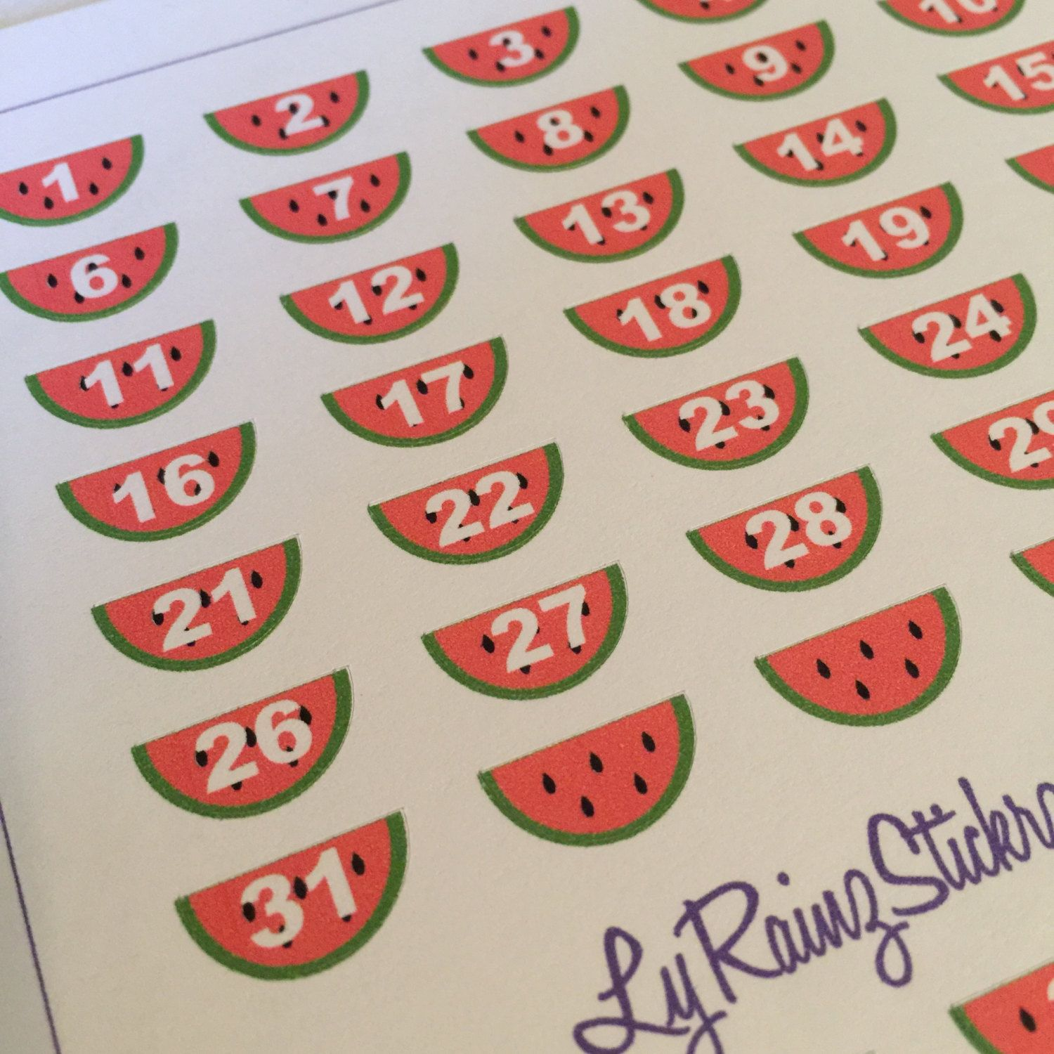 Date Covers ~ Watermelons for Passion Planner, Erin Condren, Happy Planner....etc by LyRainzStickrzNStuff on Etsy
