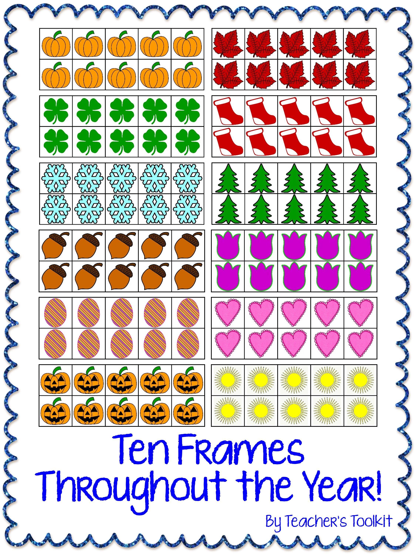 Seasonal Themed Ten Frames Clip Art Frames Throughout The Year