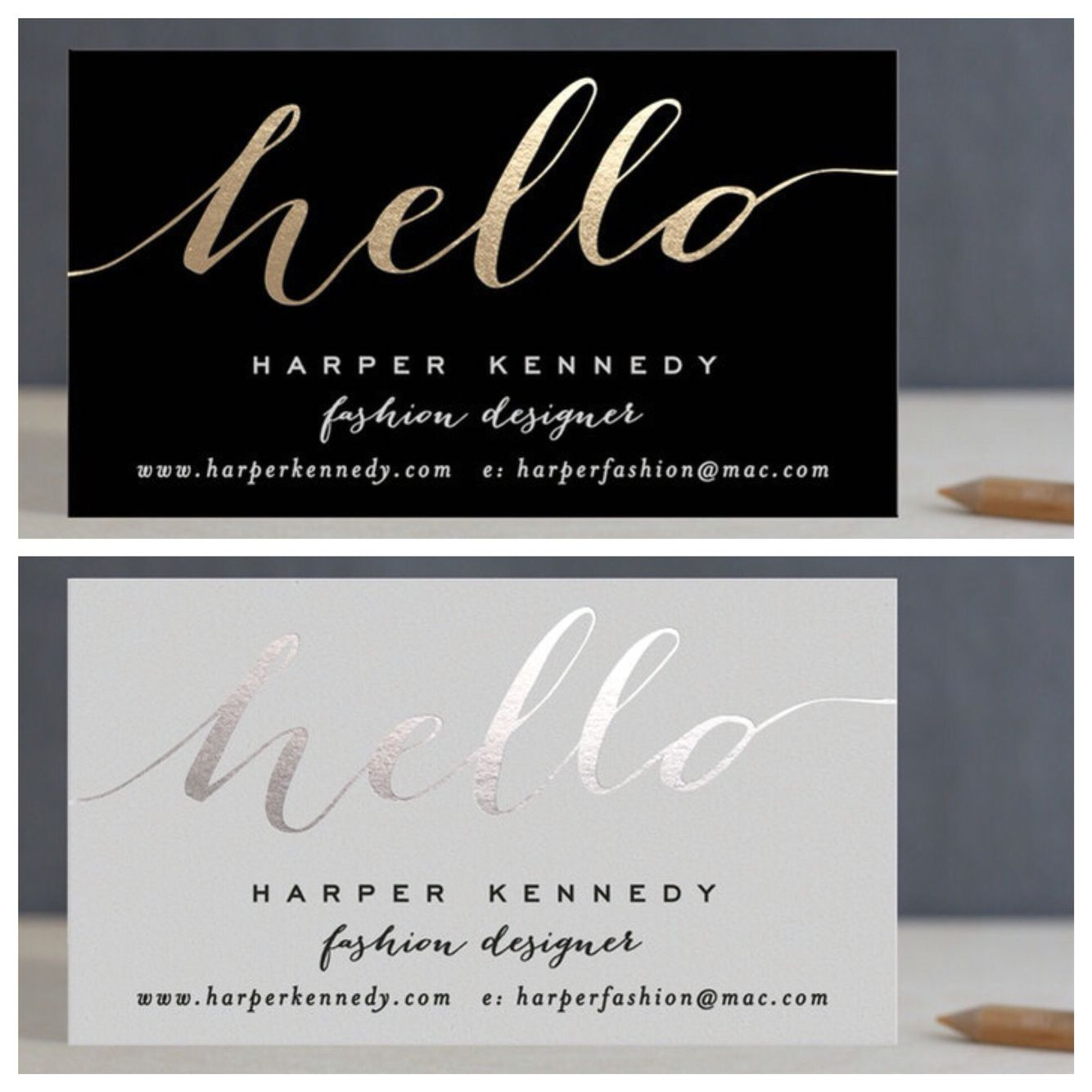Gold or silver foiled business cards from minted paper printing gold or silver foiled business cards from minted colourmoves