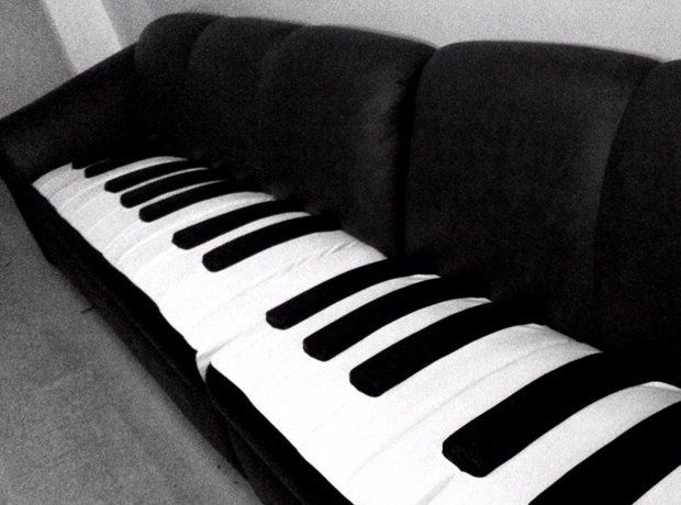 Classical Music Home Decor Furniture  Piano Couch