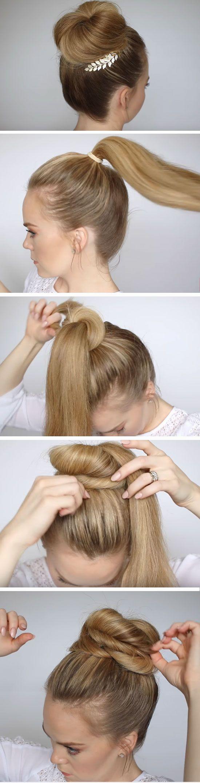 easy diy prom hairstyles for medium hair