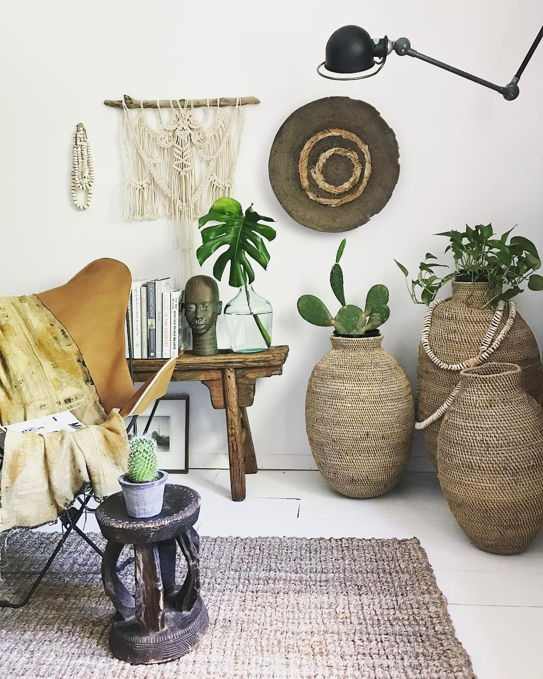 Garden and home zambia  apartmentf ucThis gorgeous African Zambia Makenge root basket on