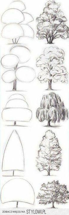 Como Dibujar Dibujos De La Naturaleza Dibujos De Arboles Cuaderno De Dibujos De Bocetos