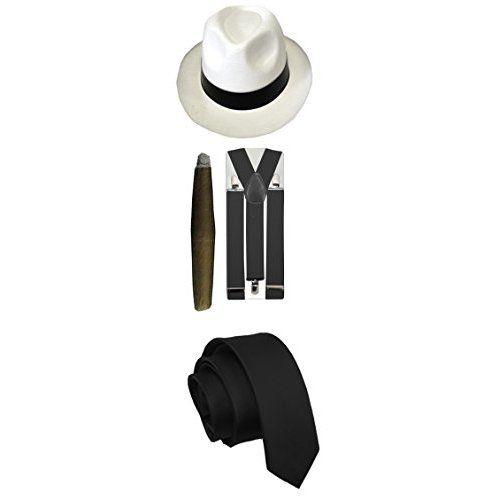 design intemporel comment trouver vente la moins chère Ilovefancydress Set de déguisement gangster Al Capone ...