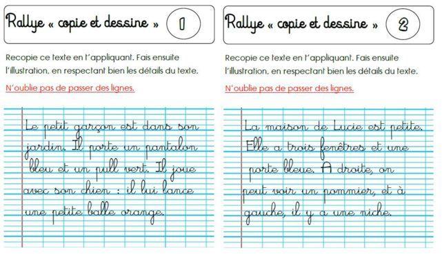 Copie et dessine  super rituel de copie au CP Toujours un super - dessiner sa maison en ligne