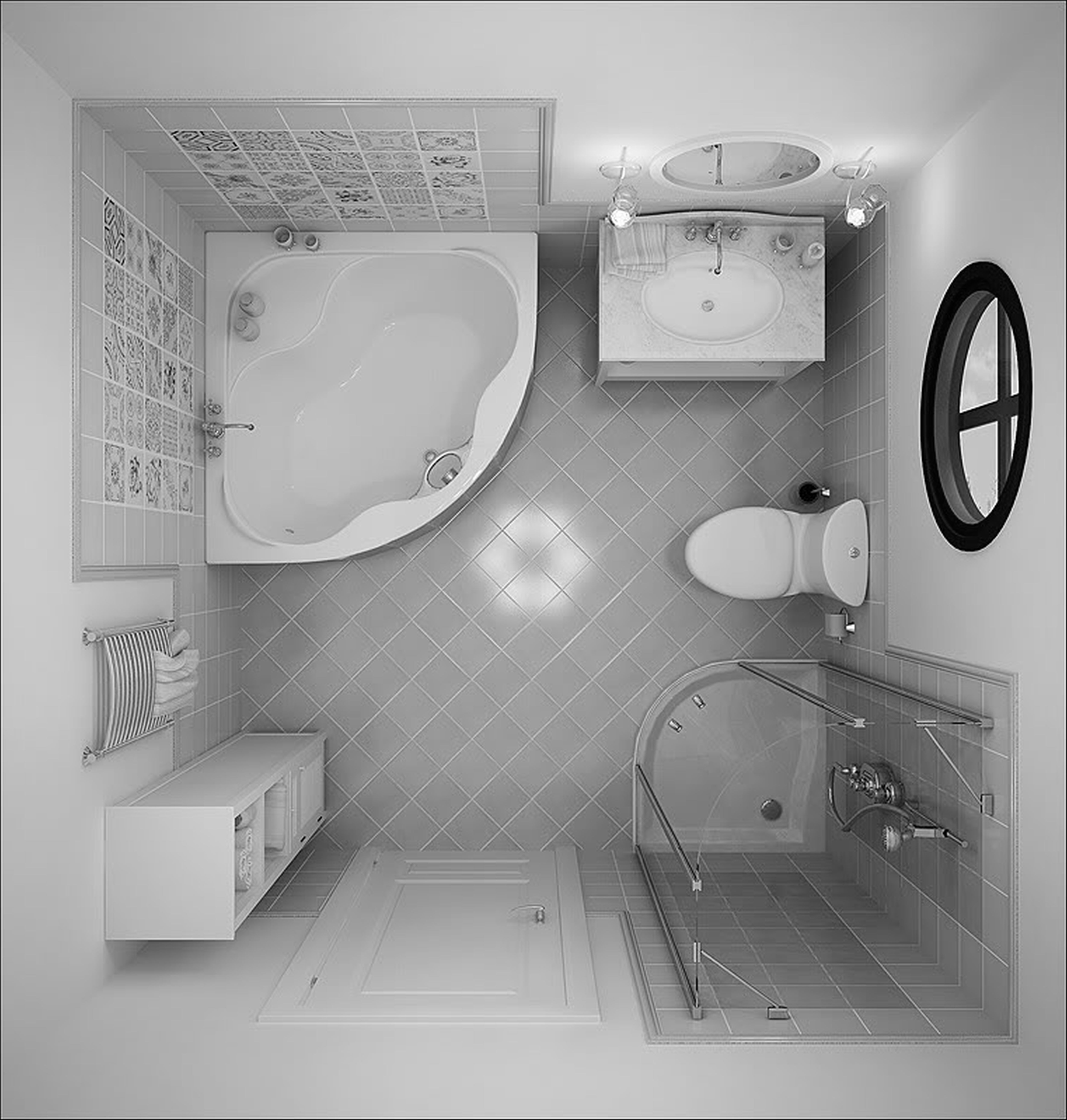 The Exact Same Way Bathroom Curtains Also Offer A Classy Appearance To Our Bath Space A Wall Hun Small Bathroom With Tub Bathroom Floor Plans Bathroom Layout Simple bathroom size tub
