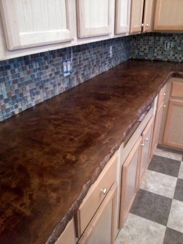Furniture Outstanding Stained Concrete Countertop Design With