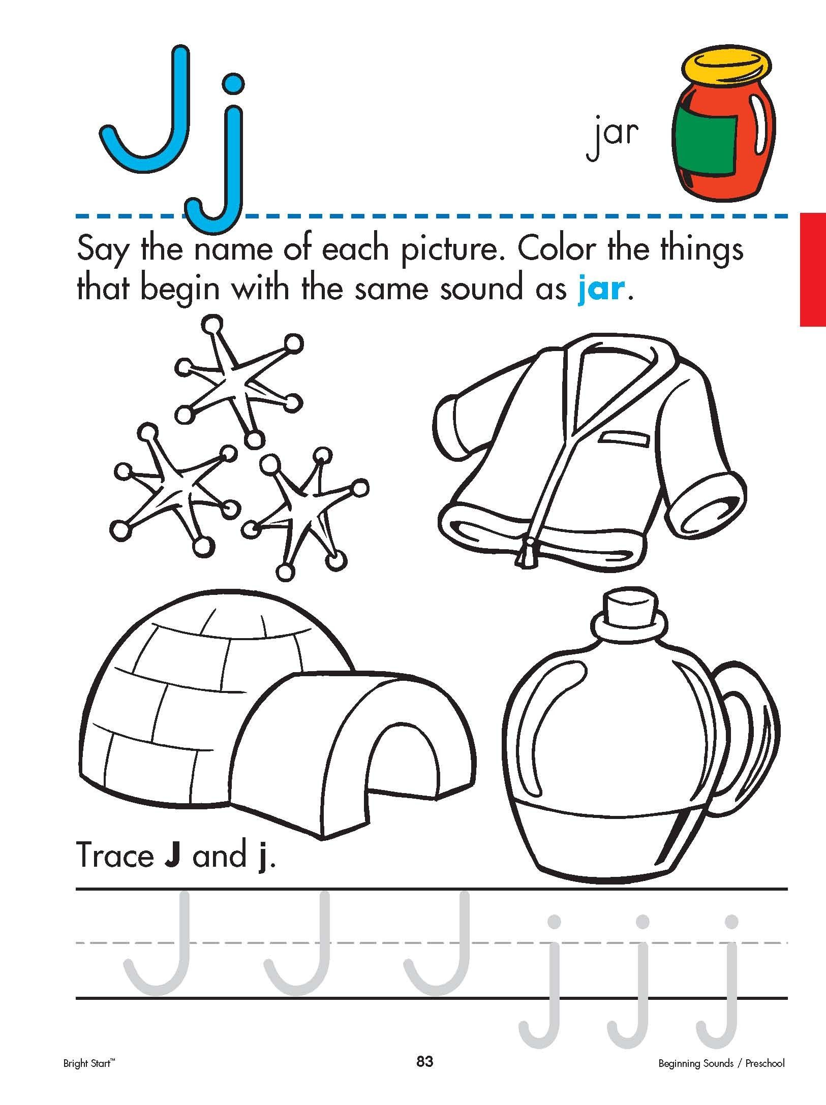 worksheet Letter J Worksheet letterjworksheetforpreschool free shipping on all orders over over