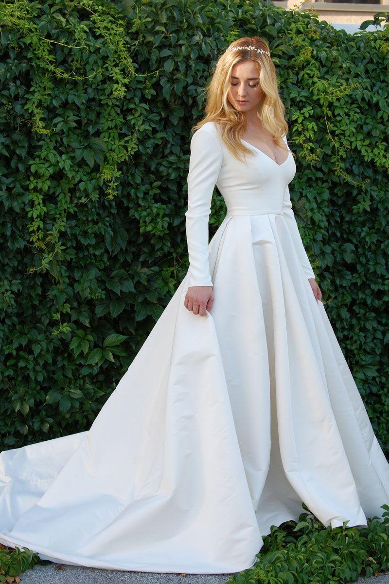 long sleeve modest wedding dress | Wedding dresses in 2019 ...