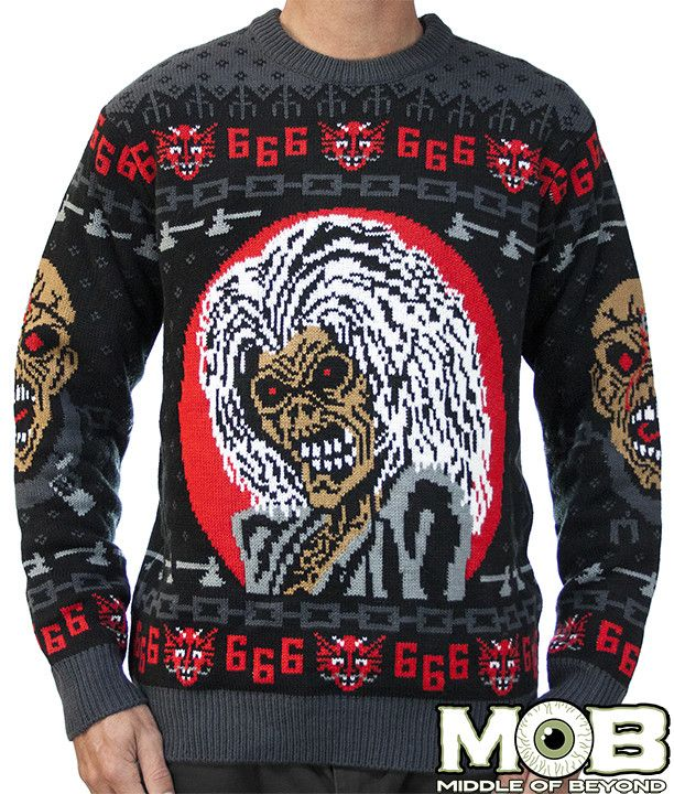 Iron Maiden Sweater Things Christmas Sweaters Ugly
