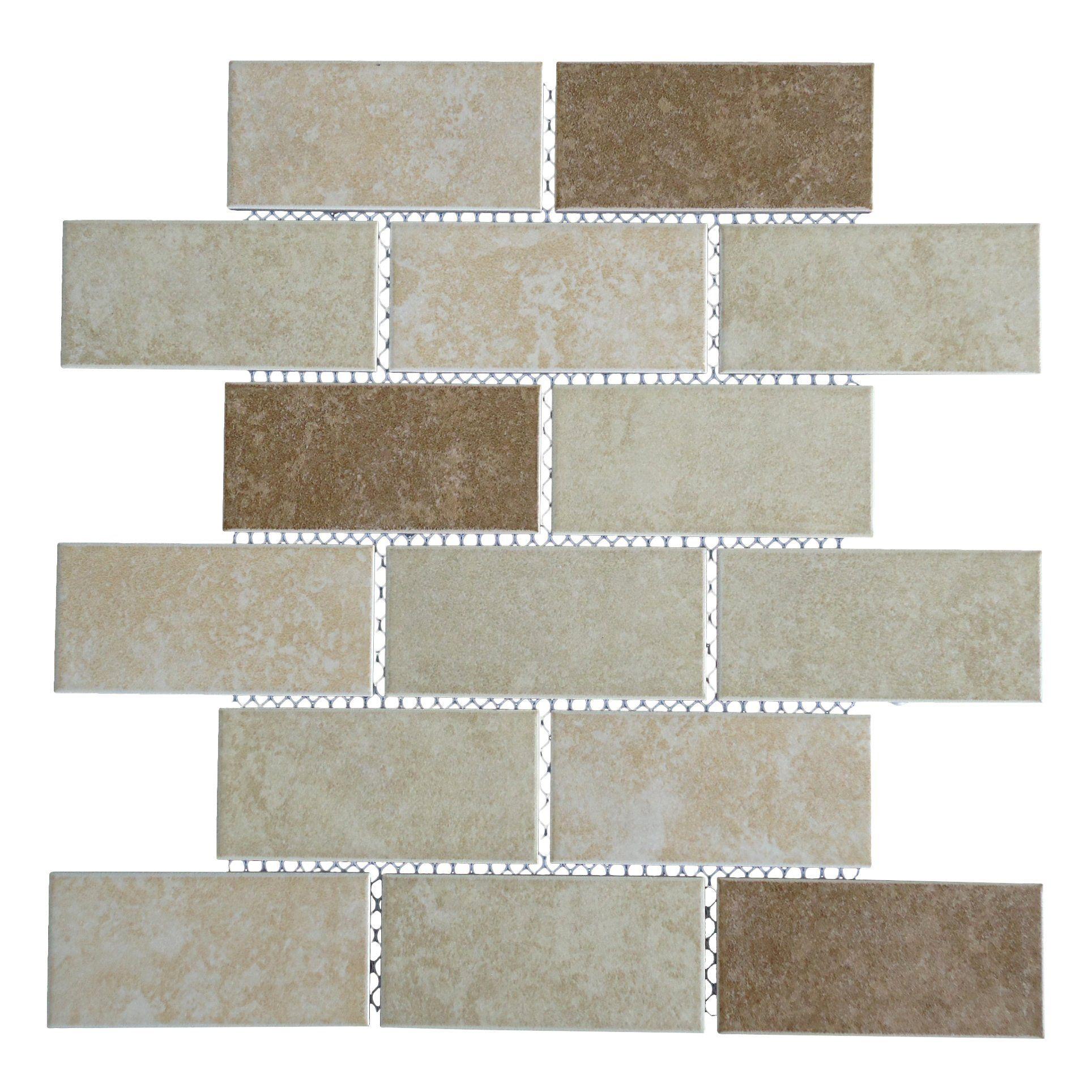 Classique 2 X 4 Porcelain Subway Tile In Beige And Ivory Ideas