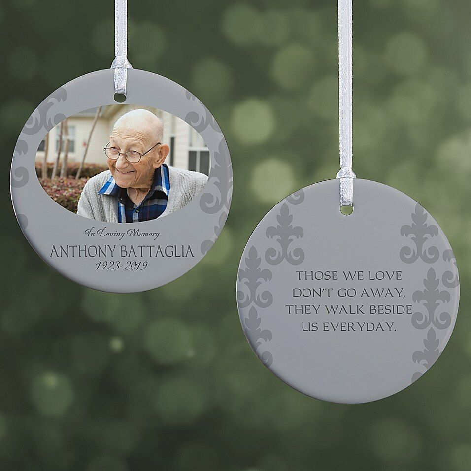 In Loving Memory Photo Memorial 2 Sided Glossy Christmas Ornament Buybuy Baby Memorial Ornaments Christmas Ornaments Memorial Christmas Gift