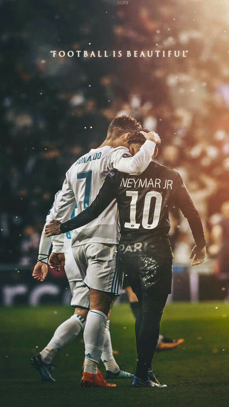 Cristiano Ronaldo en Neymar Jr