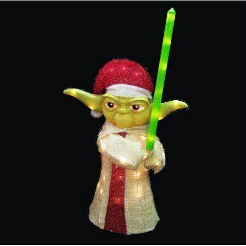 Kurt adler 36 lighted yoda yard christmas for Amazon christmas decorations indoor