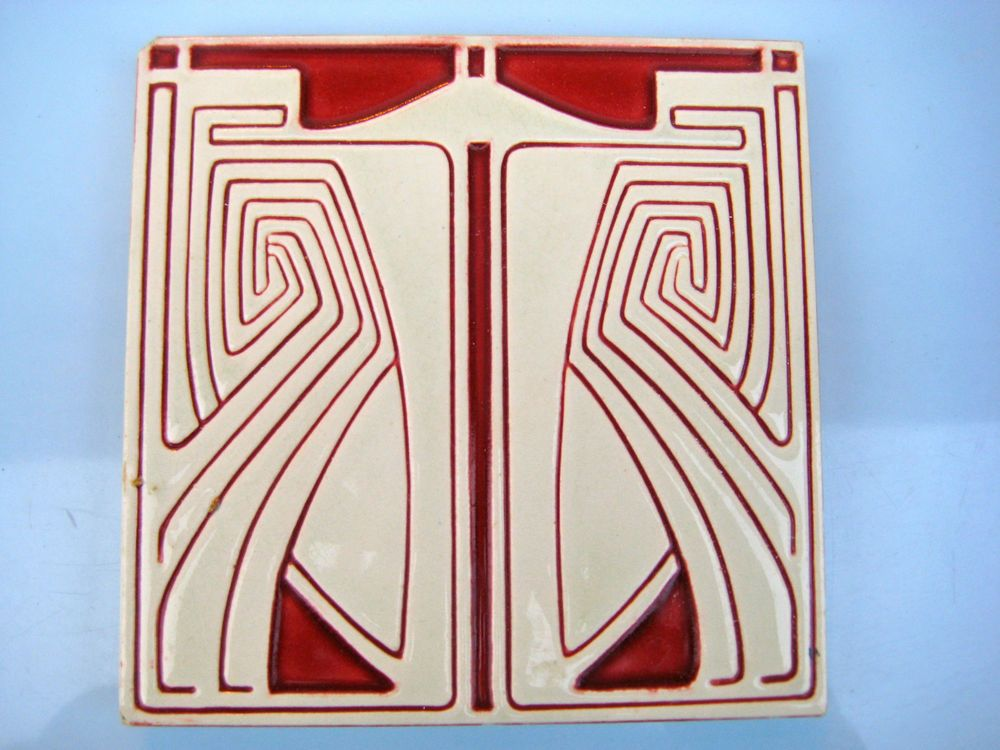details zu schiff jugendstilfliese carrelage tile kachel art nouveau tegel mettlach fliese. Black Bedroom Furniture Sets. Home Design Ideas