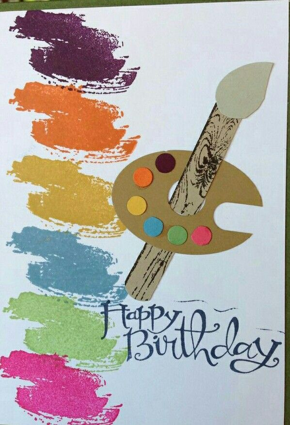 Pin On A Painter S Birthday Card