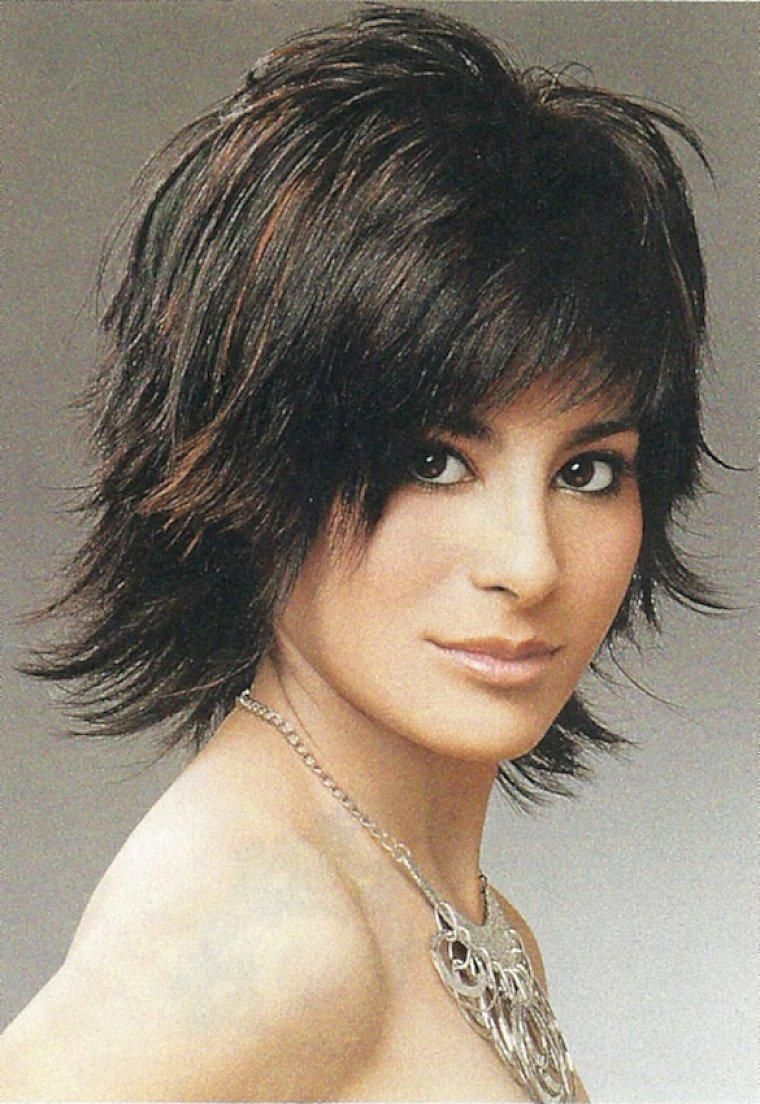 Short shaggy hairstyles for thick hair the short shaggy hair