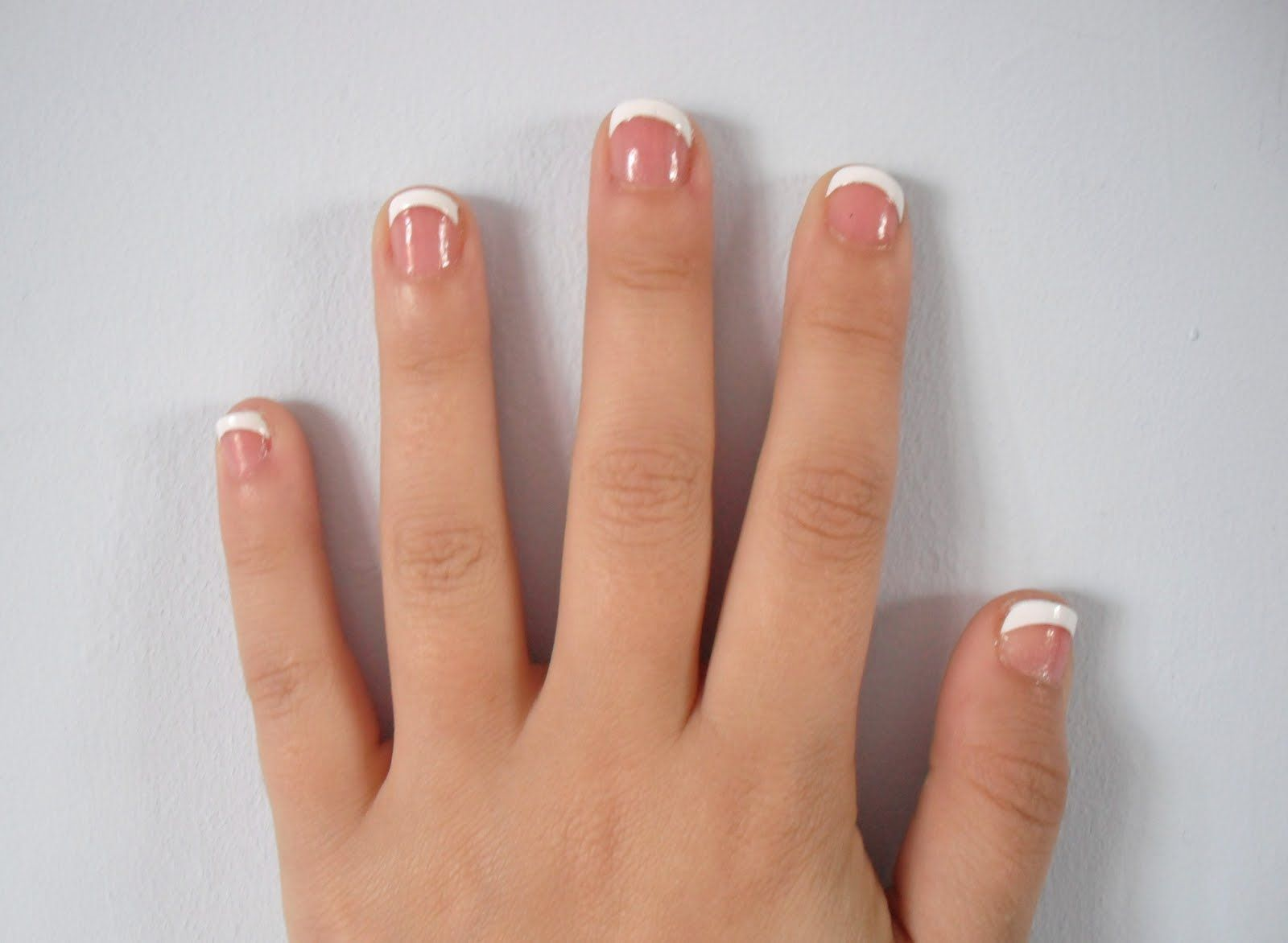 how to do french manicure on short nails image | Manicure ...