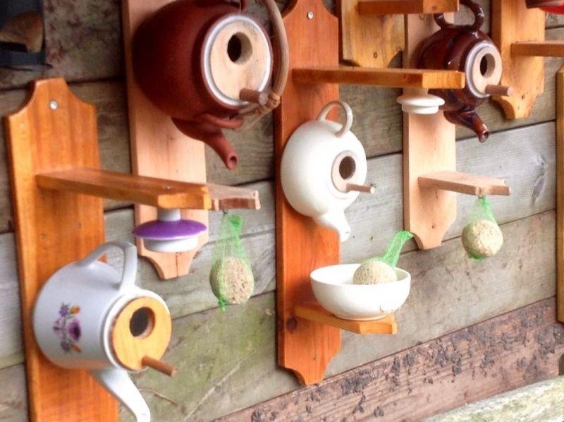 Vogel/voederhuis theepot (With images) Tea pots, Bird