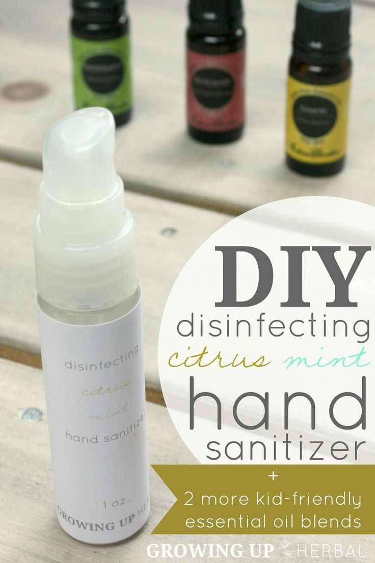 Homemade Essential Oil Hand Sanitizer Recipes For Adults