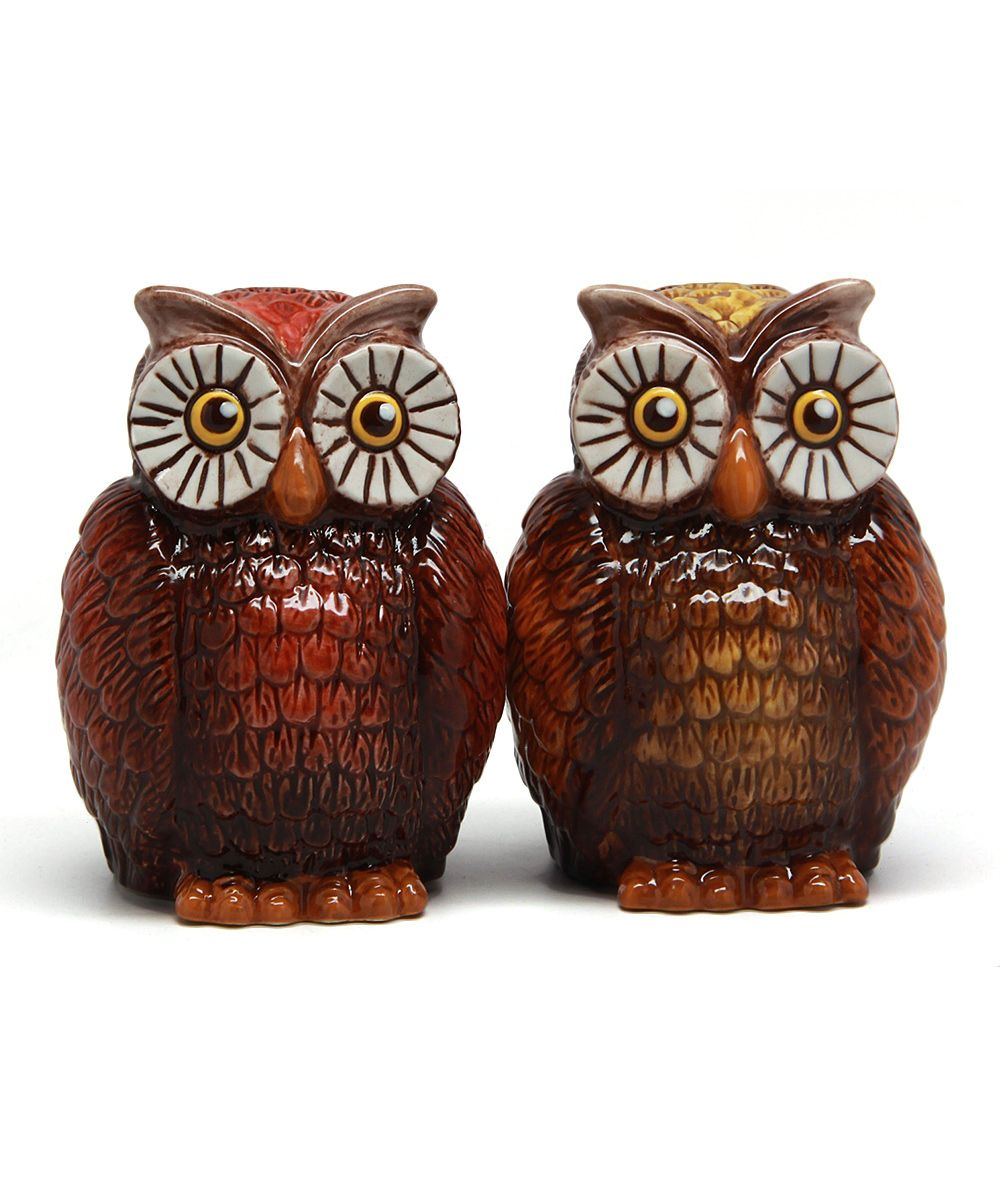 vintage style owl shakers