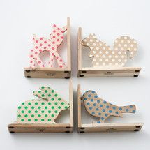 Animal polka dots bookends/ super cute!