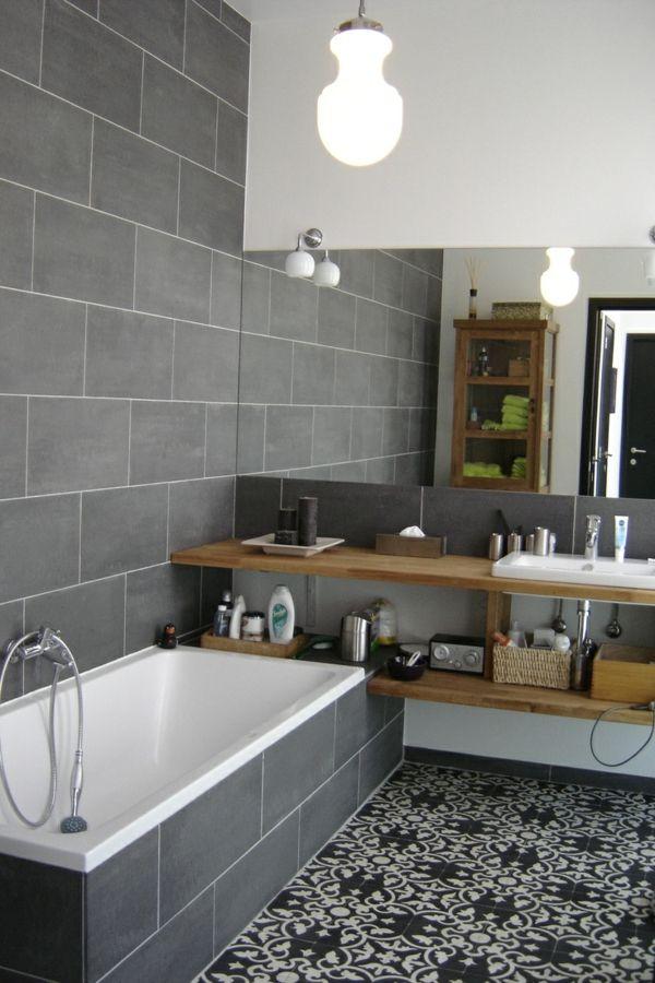 Le carrelage en ciment - le joyau de la décoration Salle de bains