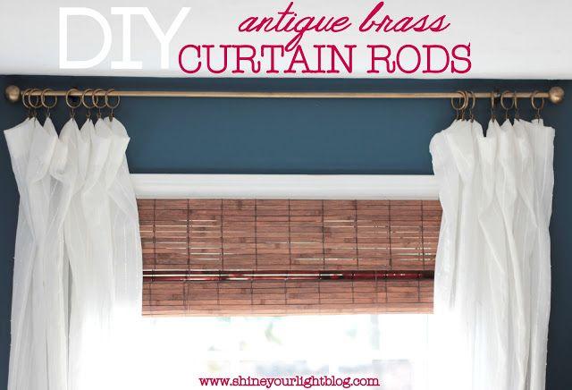 Diy Curtain Rods Apartment Style Pinterest Diy