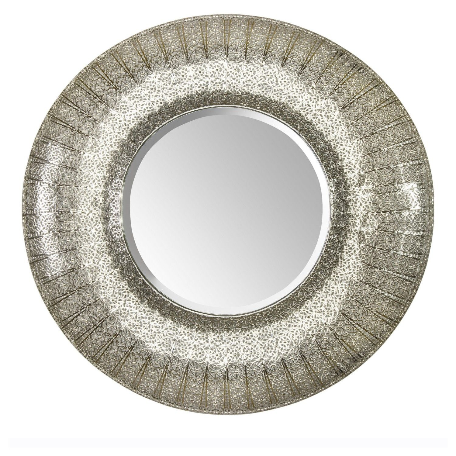 Round Moroccan Mirror. The round one in silver! £54.99