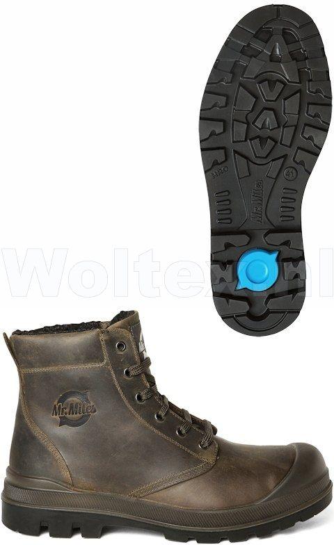 Werkschoenen Hoog.Mr Miles Bear Donkerbruin Beveiligde Werkschoenen Hoog Model Met