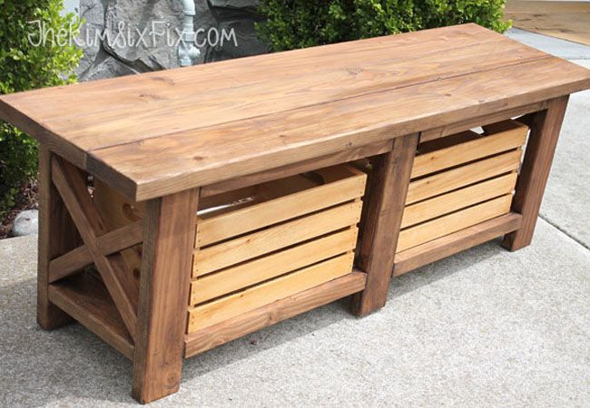 Weekend Projects 5 Designs For An Easy Diy Storage Bench Diy